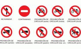 Señales viales de prohibición