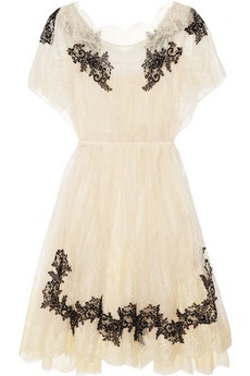 : Fashion, Valentino Appliquéd, Clothing, Appliquéd Lace, Day Dresses, White Lace, Black Lace Dresses, Closet, Cowboys Boots