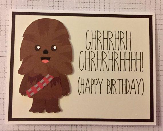 Disney Star Wars Chewbacca Birthday Card Dad Birthday Card Star Wars Happy Birthday Birthday Cards Diy
