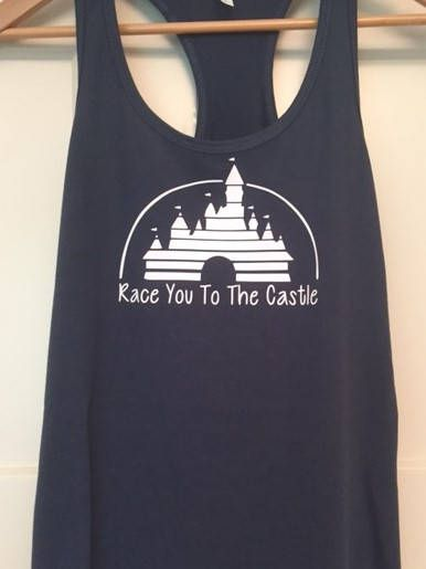 This Race You To the Castle tank top - Cinderella's castle marathon tank top - Run Disney - Disney Marathon shirt