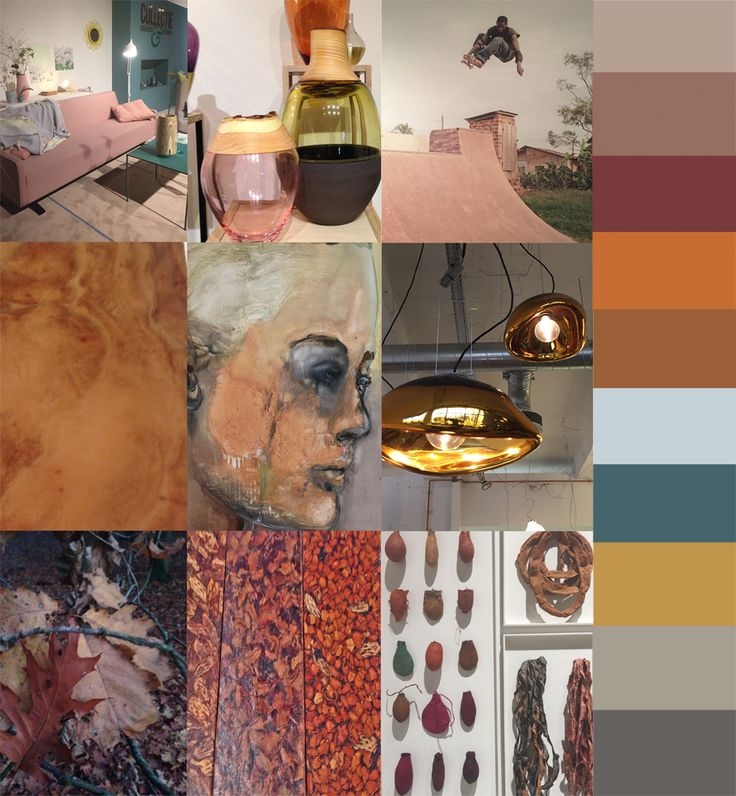 Orange: warm | gezellig | aards | evenwicht | blij | motivatie | optimisme | welzijn  http://www.stylink.nl/blogs/3-blogs/2139-de-kleuren-van-2015-moodboards-en-paletten