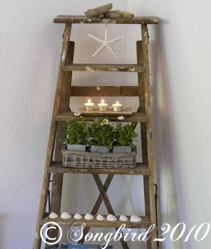 How to decorate with ladders ~ 3 styles - Songbird