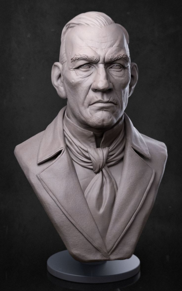 Bust by ZBrushCentral member Jarad Vincent. See Jarad's gallery for more great work!