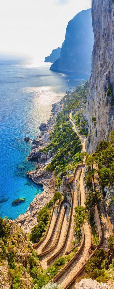 Via Krupp, Capri - an amazing walk, you have to do it once in your lifetime, even if they make you climb over the gate...