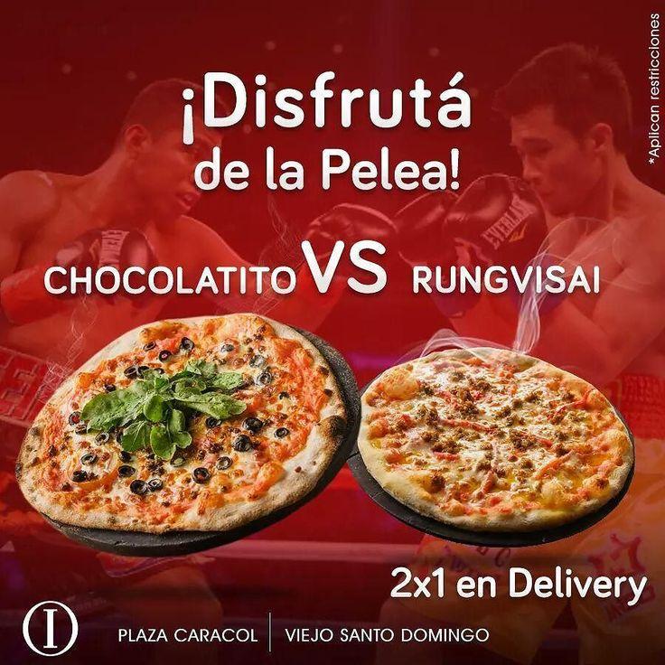 Disfrutá este #Sábado de la pelea del Chocolatito VS  Rungvisai con nuestro #2x1 en delivery en pizzas ! Quién  creés que gane?