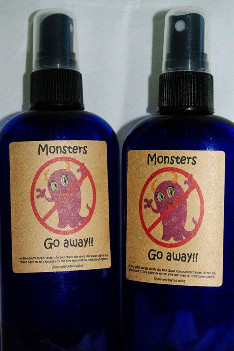 I used to make 'Monster Spray' for the boys when they were little. Worked like a charm!  :)  Brings back memories!    Go Away Monster Spray Room spray to help by ScentsofSerendipity, $7.50