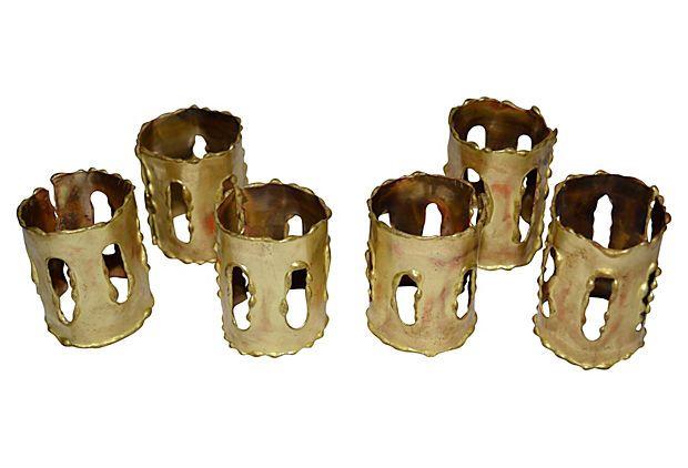 Midcentury Torch-Cut Napkin Rings from Nomadic Vintage on OneKingsLane.com
