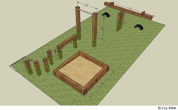 Easy and inexpensive playground equipment - I want to do some of these in our backyard.