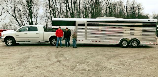 Thank you Rob, Brandon, Sean, and Greg of Davis & Sons Farms out of Carrolltown, PA for the purchase of your new 2018 4-Star Trailers, Inc. Show/Stock Trailer. Your business is greatly appreciated! Stop out and order your custom livestock or horse trailer and invite your friends. We are very happy you are now a part of the #AltmeyersAllstars . Enjoy your new purchase! (800) 352-1565