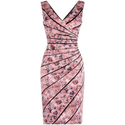 Alexon lace top jersey dress wine color