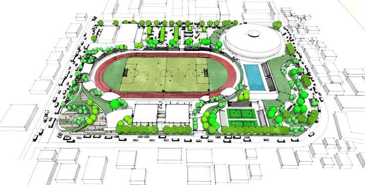 Batangas sports complex concept ajm landscape planning design landscape pinterest for Sports complex planning design
