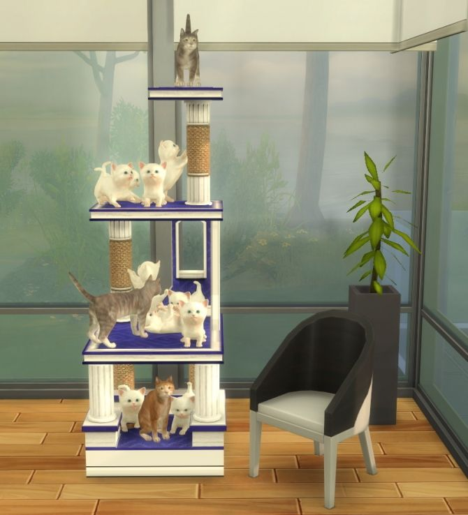 Pet Stories Reward Cat Condo by BigUglyHag at SimsWorkshop via Sims 4 Updates