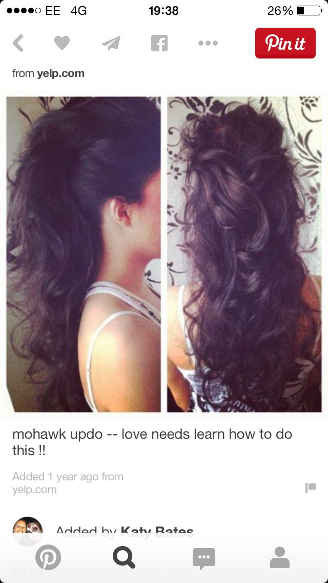 Mohawk up do