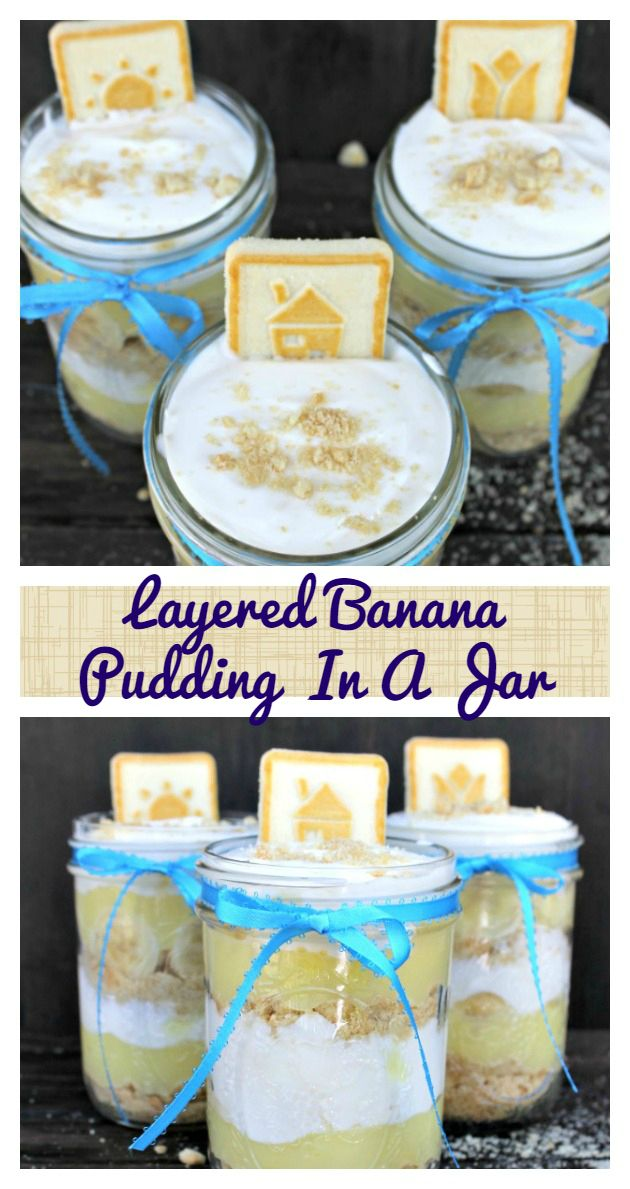 Layered Banana Pudding In A Jar from This Mama Loves.  If you are a fan of traditional banana pudding, I think you will really enjoy this recipe. I have made a few changes to make it my own, so it isn't your mom's banana pudding for sure! Part of the fun of mason jar recipes is creating fun and delicious layers. Each bite you take is like an adventure for your mouth! this recipe has a little bit of tart and a lot of sweet, so you get the best of both worlds. And, it's simple to make and…