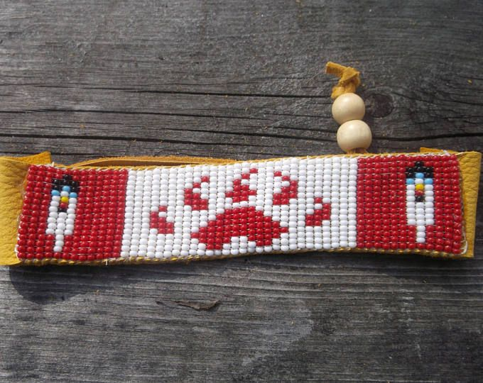 Bear paw Indiaanse armband, armband, Rocailles