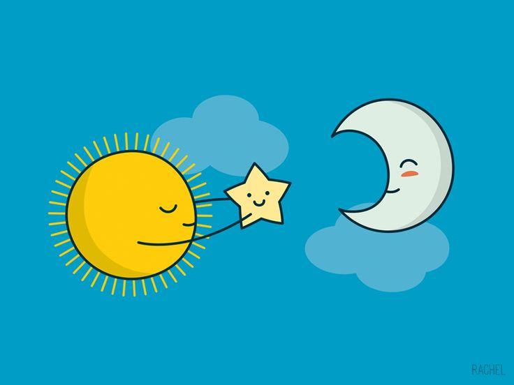 Sun and Moon - Rachel Illustrations