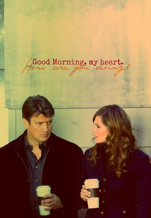 CASTLE :  Coffee and Caskett. Just RICK AND KATE.