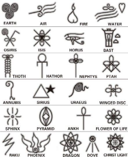 Símbolos egipcios.                                                                                                                                                                                 Más