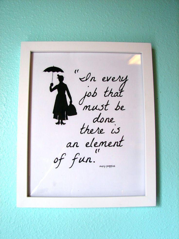 : Mary Poppins, Disney Printable, Disney Quotes Printable, Office Printable, Laundry Room Printable, Playroom Printable, Kid