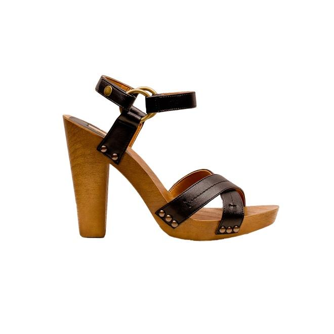 Stradivarius wood sandals