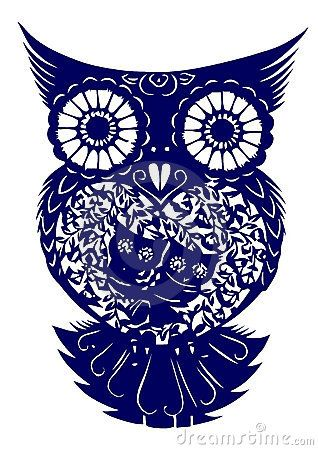 Love this for a tattoo idea!! Notice the two owls on the belly of the big owl.