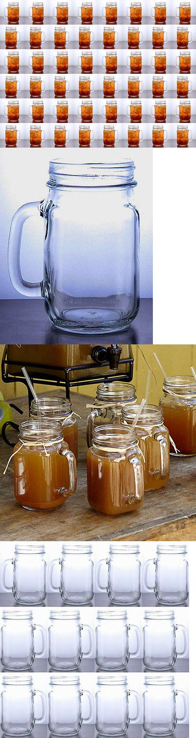 Wedding Supplies 51018: Rustic Bridal Wedding Mason Jars With Handles Wholesale Lot Set 4 Cases 48 Jars -> BUY IT NOW ONLY: $139.95 on eBay!