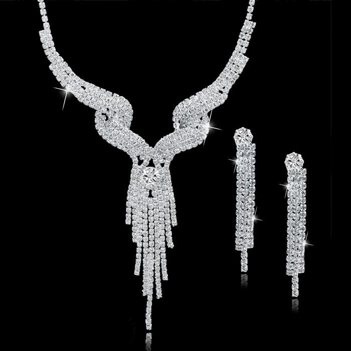 Bridal Crystal Necklace/Earrings Set - 7 Different Styles
