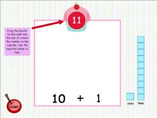 Classroom Freebies: Cupcake Place Value Smart Board Game