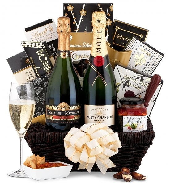 The Classic Champagne Collection A gift for those with discriminating taste. Choose Moet & Chandon Imperial Champagne or Domaine Ste. Michelle Cuvee Brut. An ideal gift for sending your best wishes, the combination of Champagne and deliciously paired food adds joy to any special occasion. $103.95
