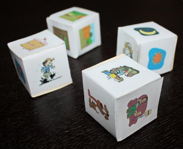 Verhalen vertellen-dobbelstenen met link naar zelf te maken versie