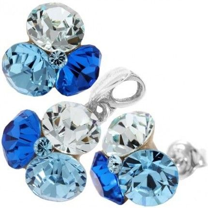 Cercei cu cristale swarovski  http://www.bijuteriifrumoase.ro/cumpara/tripple-xilion-ss34-34-blue-2323