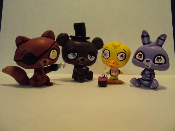 FNAF Five Nights at Freddy's Custom OOAK HP Littlest pet shop LPS SET! Foxy Toy #Hasbro
