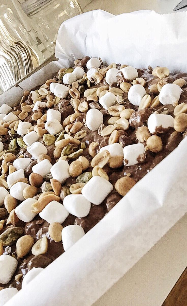 Rocky road ♡ Christmas candy deluxe with freia milk chocolate, dumle, pistachio nuts, salty peanuts and mini marshmallows
