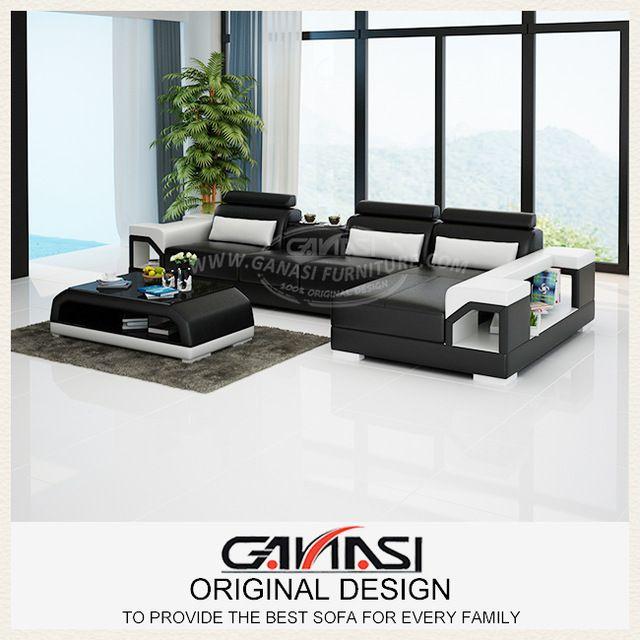 Jepang yang modern furniture, Sofa kulit empuk, Ruang tamu kursi kursi yang modern