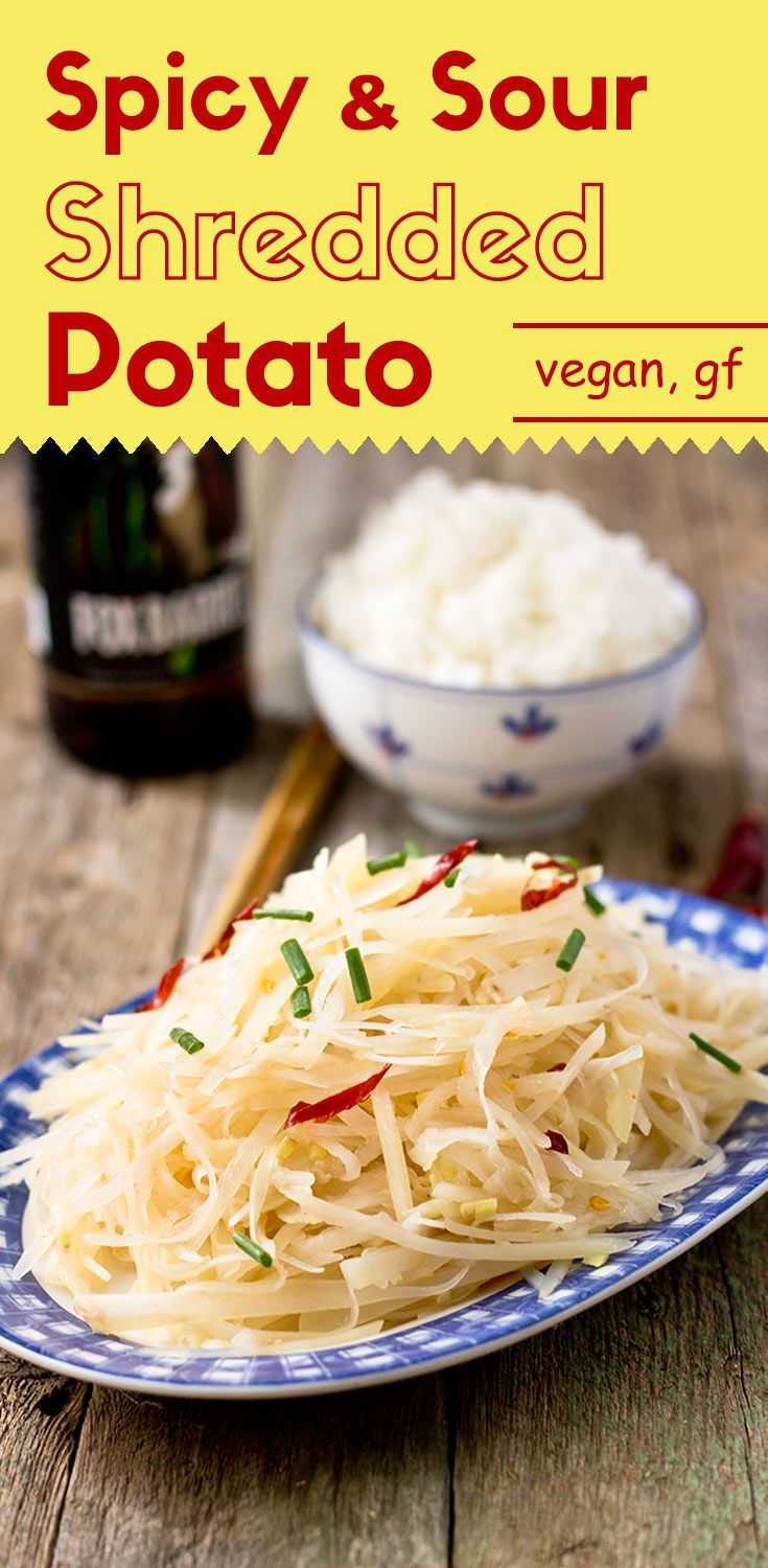 This appetizing, crispy shredded potato has just the right amount of sourness and bold spiciness. Ready in 10 minutes. via /lightorangebean/