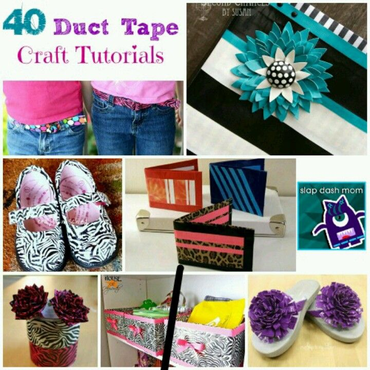 40 cool duct tape crafts