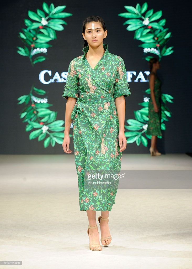 A model walks the runway wearing Casa LeFay at Vancouver Fashion Week on September 22, 2016 in Vancouver, Canada.