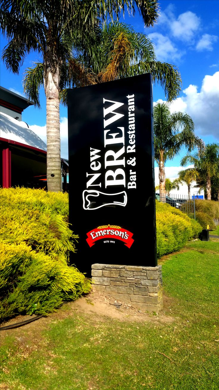 Illuminated plinth sign for New Brew by Speedy Signs Newton