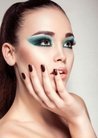 Trucco turchese - Make up occhi castani