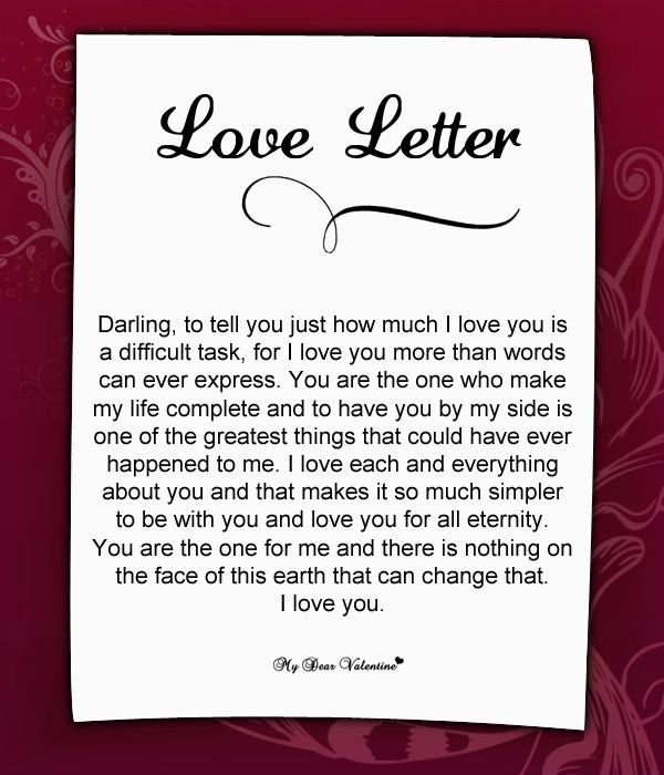 valentine letter with candy