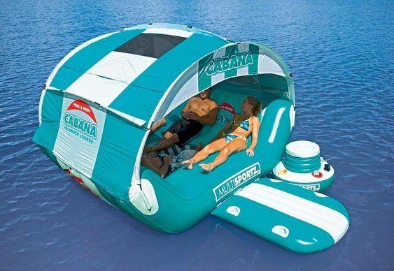 Matéria Incógnita – Inovação e Criatividade » Barraca inflável inspirada em ilha flutuante para curtir o verão