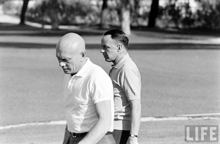 Frank Sinatra and Yul Brynner by John Dominis 1965