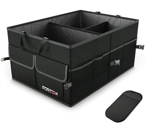 Premium Quality Auto Trunk Organizer by FORTEM For Car, SUV, Truck