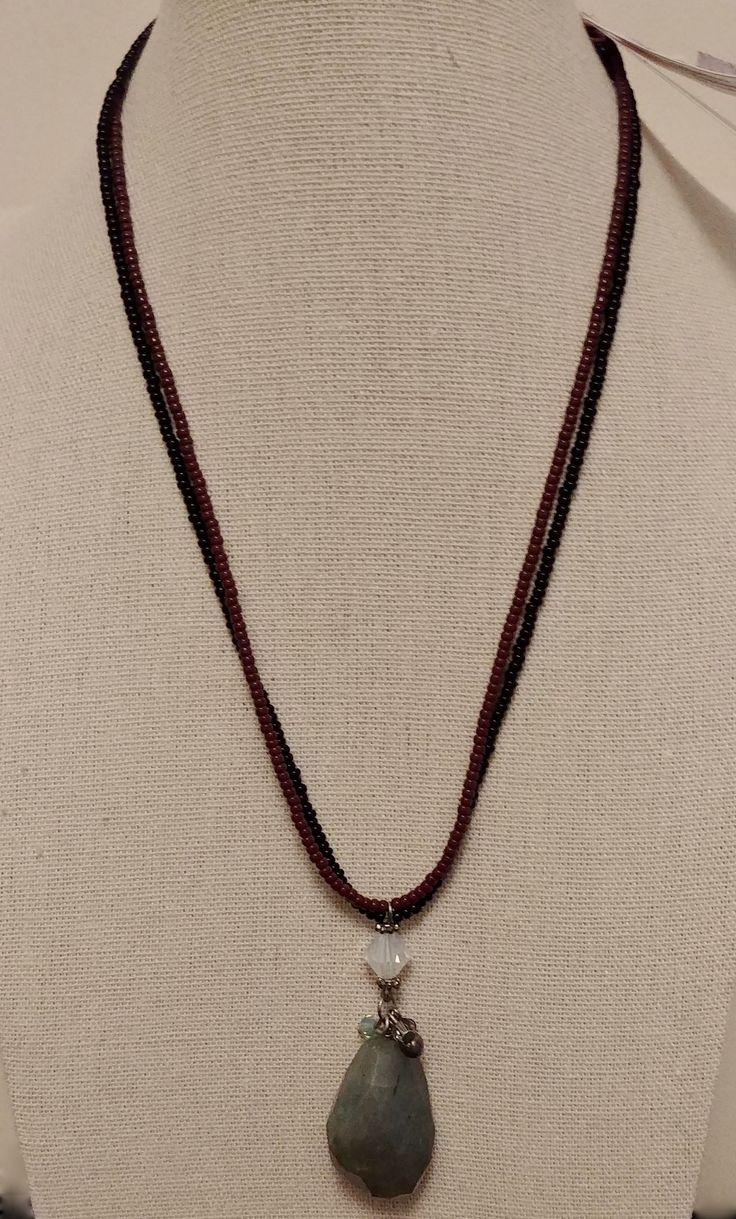Labradorite with Swarovski and fine Czech glass.
