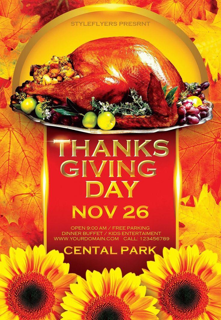 11 Best Thanksgiving Flyer Templates Images On Pinterest Diy E