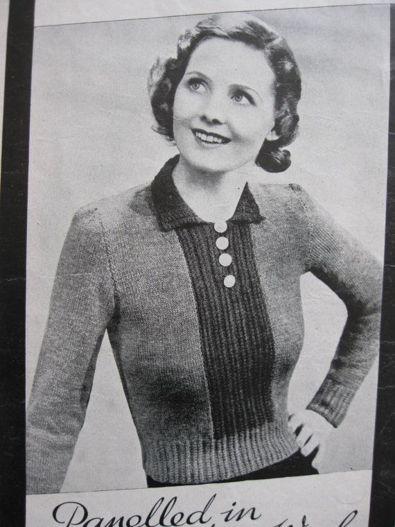 1930s My Weekly Spring Jumpers Knitting by BlitzAndGlamour