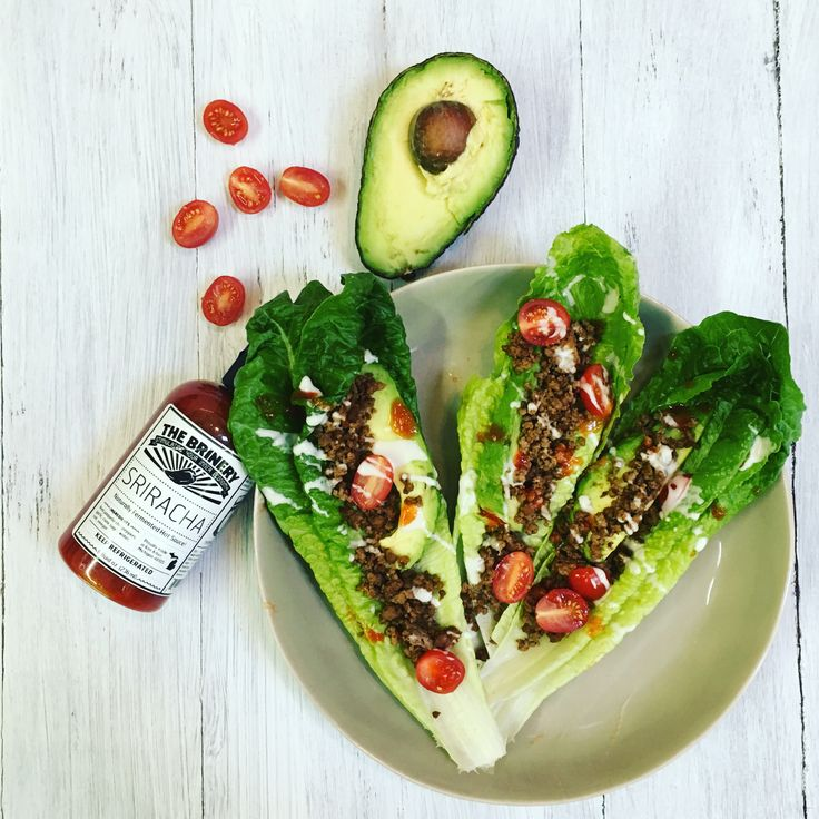 Whole30, paleo, and Keto approved lettuce wrap tacos