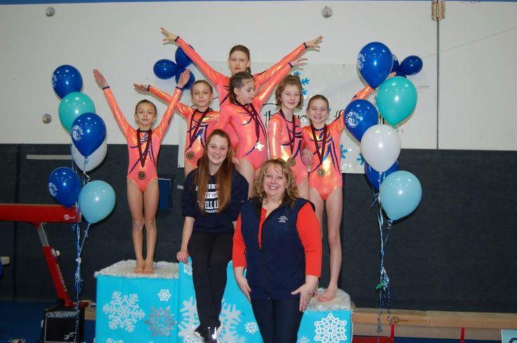Gymnasts from Powell River Gymnastics Society.