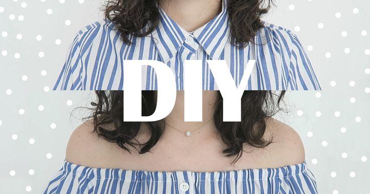 Cómo hacer una blusa campesina reciclada paso a paso