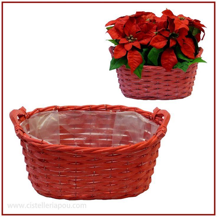Cestas para plantas y arreglos florales, cesta para la poinsettia, elegantes cesta para la planta de Navidad, jardinera de mimbre, cesta de mimbre especial para plantas, cestas de floristería, cuenco de mimbre, canasto de mimbre. Comprar cesta de mimbre Shop on-line 24 horas